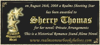 Realms on Our Bookshelves award
