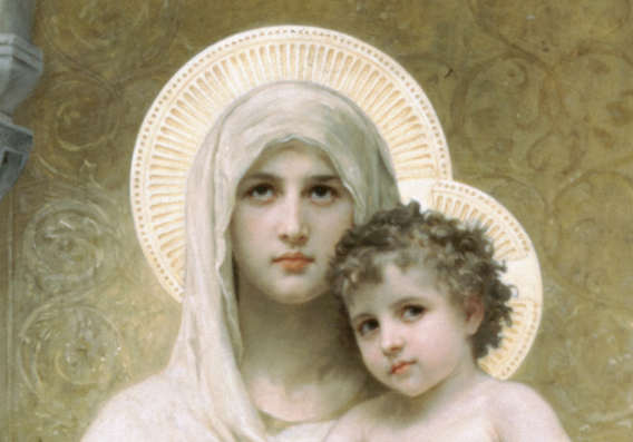 Madonna of the Roses by Wm. Bouguereau