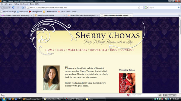 Sherry's first Croco Designs Website